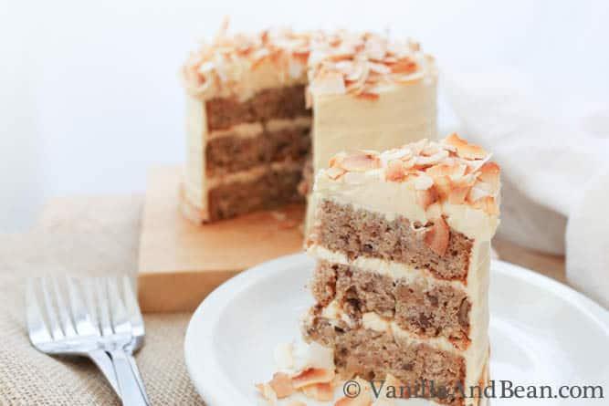 "A big piece of the 6"" Hummingbird Cake"