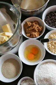 Ingredients needed to make the cookies