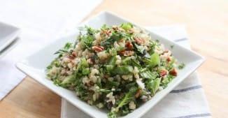 Spinach Pecan Brown Rice Salad