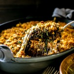 Porcini Mushroom, Greens and Forbidden Rice Gratin | Vanilla And Bean
