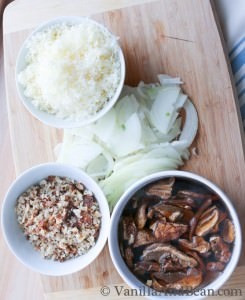 Porcini Mushrooms Sweet Onion and Gruyere | VanillaAndBean.com
