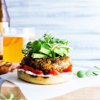 Flavor packed and with good for your ingredients, Sweet Potato Burgers are easy to make, freezer friendly and at the ready for meal prep! Sweet potatoes make up the bulk while quinoa and red lentils provide protein power; Sweet Potato Veggie Burgers are ready! vegetarian + easily vegan