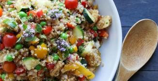 Market Quinoa Salad with Fresh Mozzarella