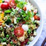 Close up of Cold Quinoa Salad