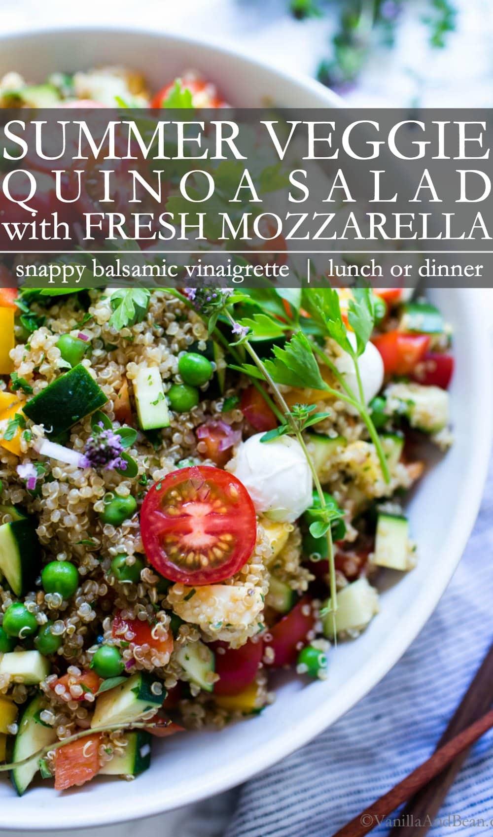 Pinterest Pin for Summer Quinoa Salad