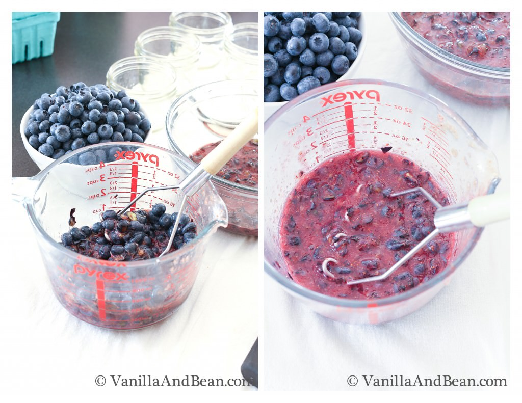 Mashing Blueberries