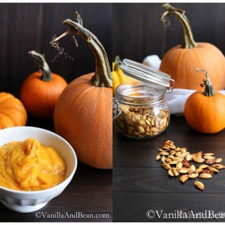How to Make Pumpkin Puree + How to Roast Pumpkin Seeds