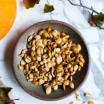 Homemade Roasted Pumpkin Seeds in a Bowl.