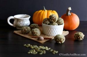Pumpkin Kasha Energy Bites {V+GF}   Vanilla And Bean