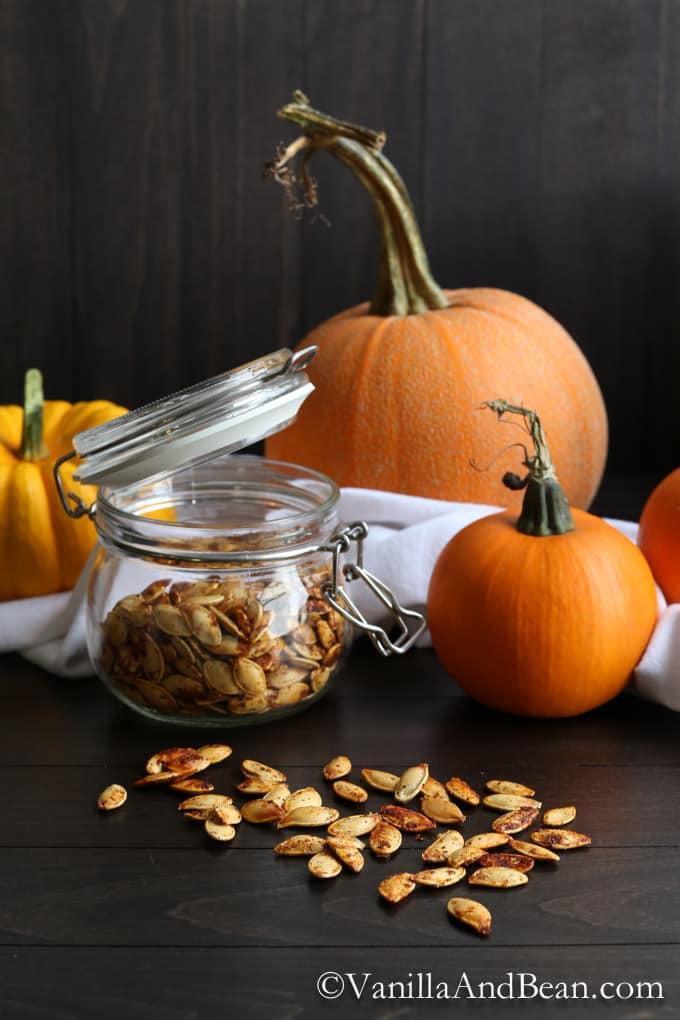 How to Roast Pumpkin Seeds + Make Pumpkin Puree | Vanilla And Bean