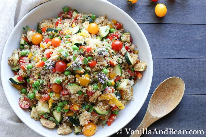 Market Quinoa Salad with Fresh Mozzarella | Vanilla And Bean