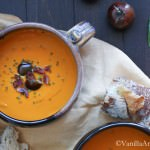 Roasted Red Bell Pepper and Heirloom Tomato Soup