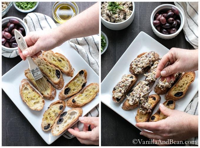 Olive Artichoke Crostini | VanillaAndBean.com #Recipe #Appetizer #Vegan