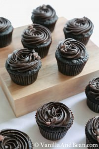Chocolate Espresso cupcakes with a buttercream swirl