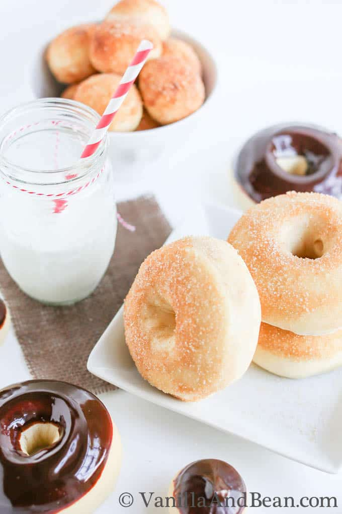 Baked Yeast Donuts - oven baked doughnuts served fresh