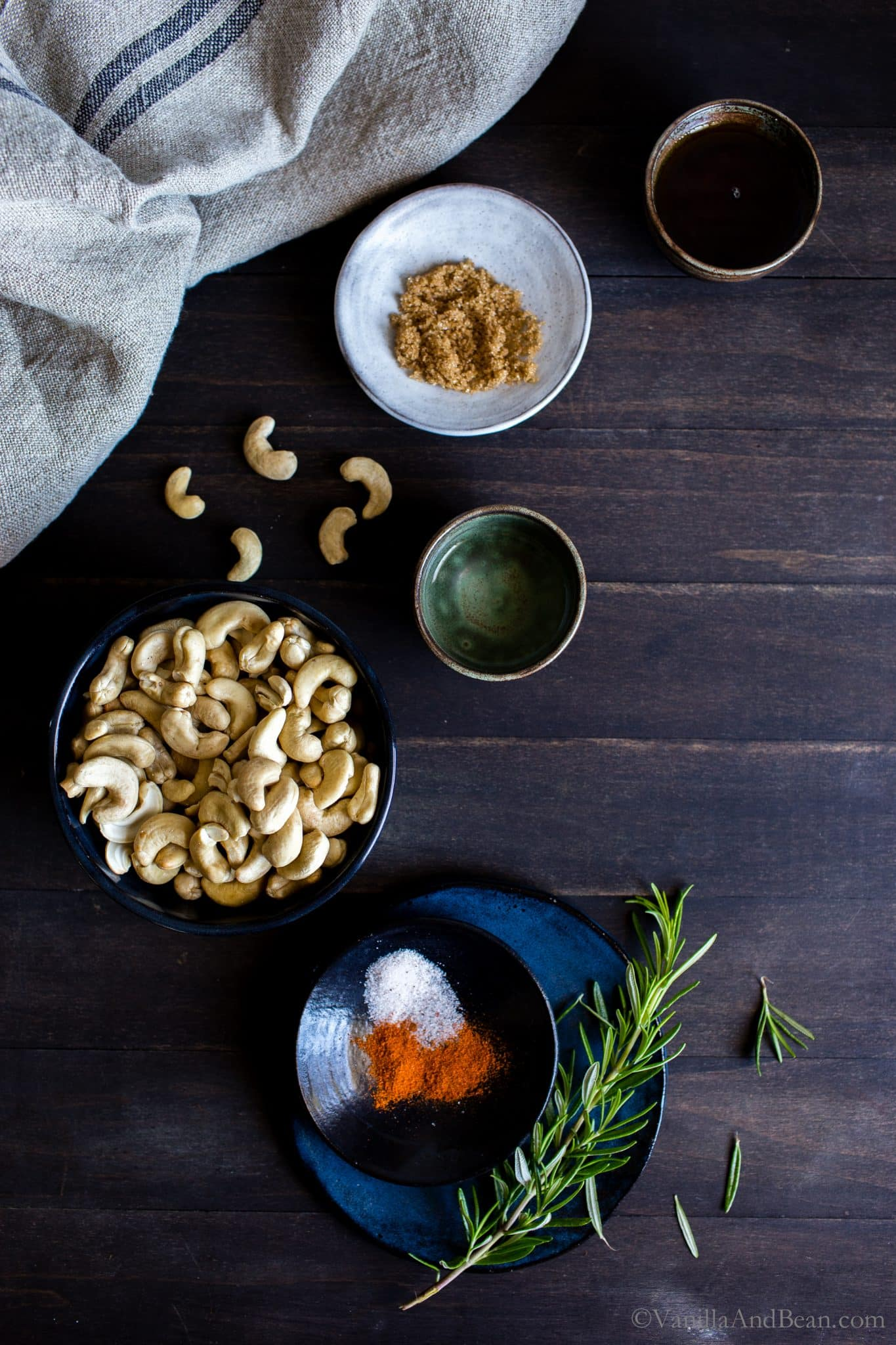 Sweet and Spicy Maple-Roasted Rosemary Cashews make a fabulous appetizer, snack or gift, anytime! #VeganFood #GlutenFreeFood #Recipe #HolidaySnacks #RoastedNuts