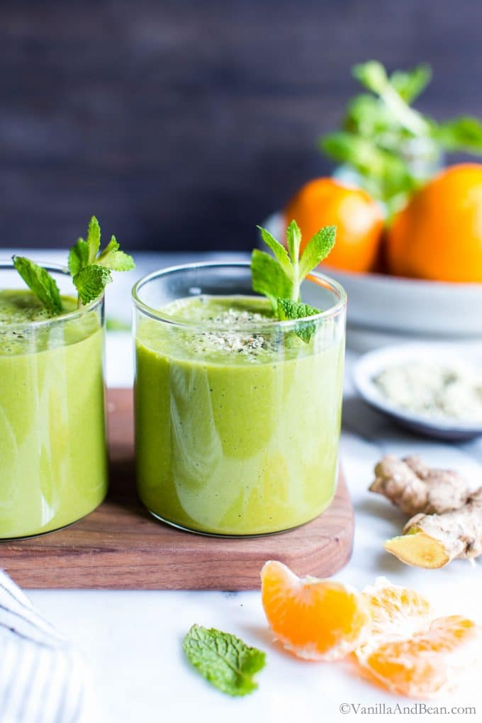 Ginger Smoothie with Mint