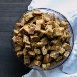 Coconut Oil Herbed Croutons | Vanilla And Bean