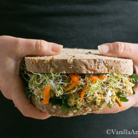 Smashed Chickpea Salad Sandwich (Vegan + GF) | Vanilla And Bean