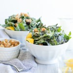Vegan Caesar Dressing with Kale and Parmesan