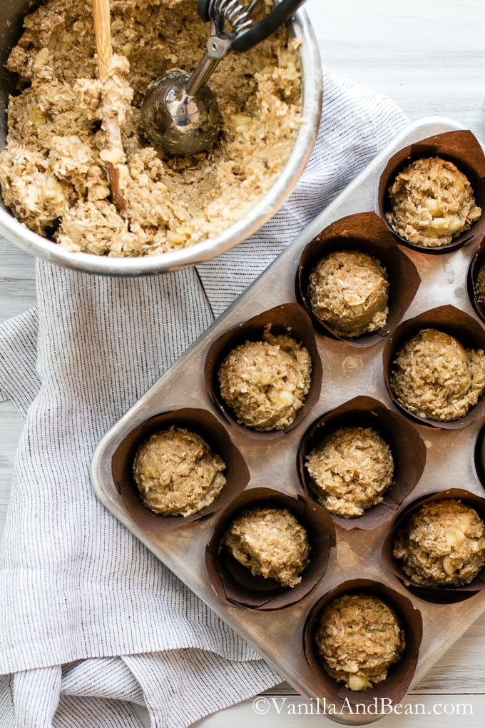 Banana Oat Crunch Muffins | Vanilla And Bean