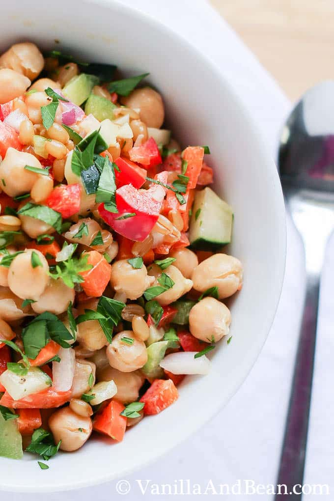 Garbanzo Summer Salad | Vanilla And Bean