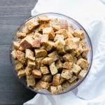 Herbed Coconut Oil Croutons