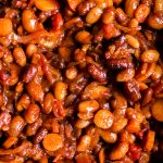 Close up BBQ Baked Beans Recipe