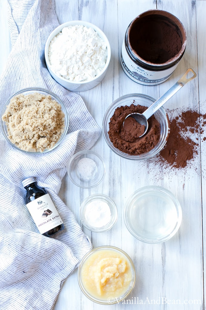 Ingredients for the Chocolate Ice Cream Sandwich Cookies