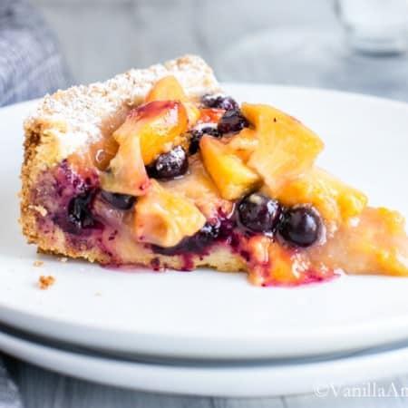 Blueberry Peach Cobbler-Tart   Vanilla And Bean