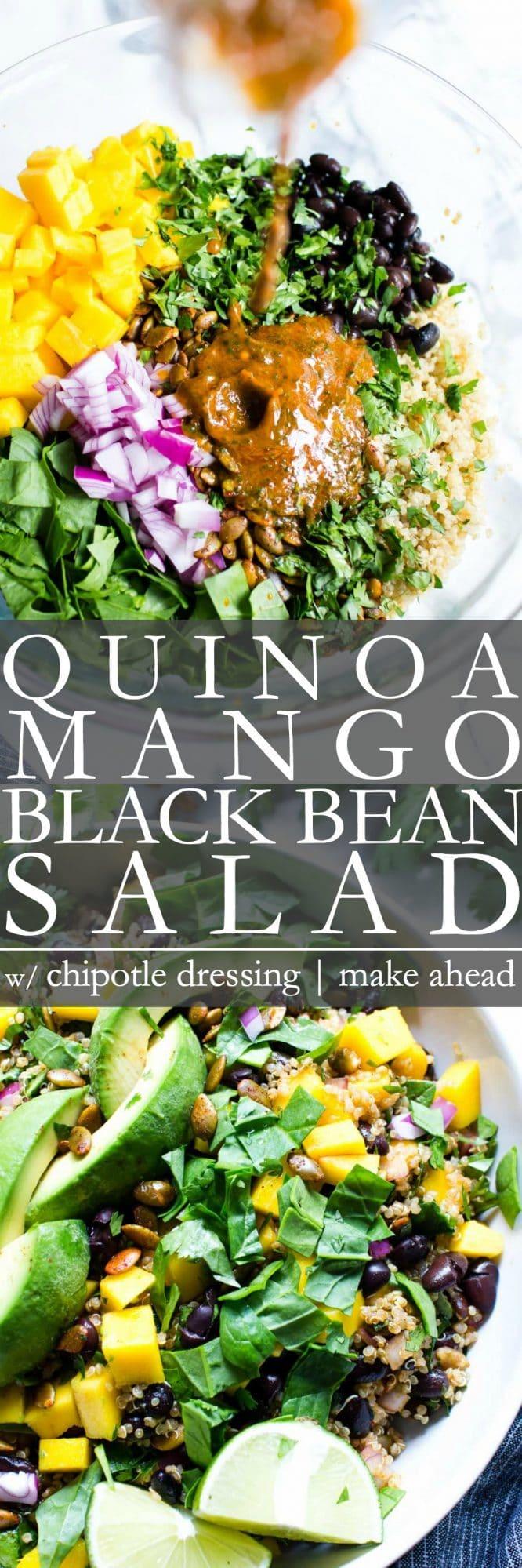 Pinterest Pin for Black Bean Quinoa Salad