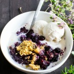 Blueberry Lemon-Thyme Cornmeal Crisp #GlutenFree | Vanilla And Bean