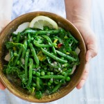 Green Bean Salad with Peas, Chard and Dijon Tarragon Vinaigrette | Vanilla And Bean