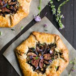 Caramelized Onion and Fig Galette with Goat Cheese and Herbs | Vanilla And Bean