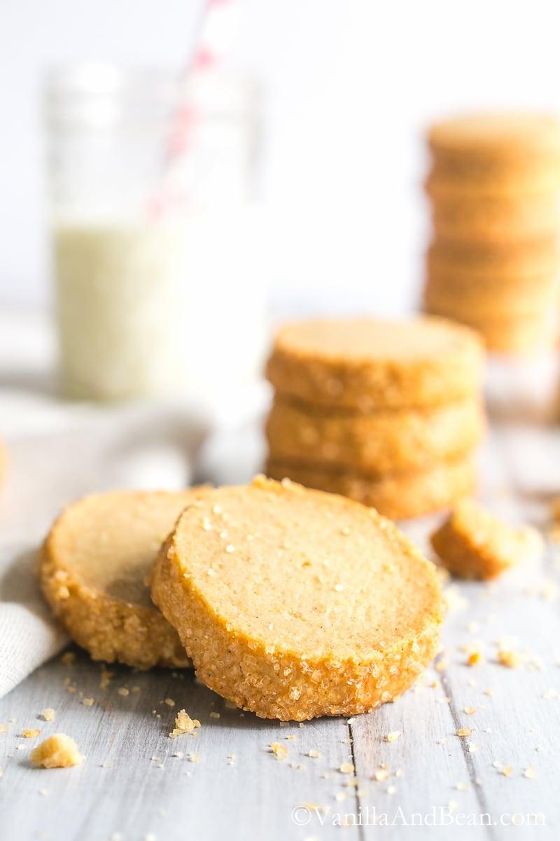 Bourbon Vanilla Bean Shortbread Cookies - Vanilla And Bean