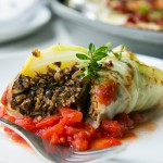 A flavor packed meal, these Mushroom Stuffed Cabbage Rolls are pure comfort for the coldest months of the year. | Vanilla And Bean