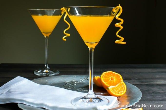 The three ingredient, fresh squeezed cocktail: Orange Drop | Vanilla And Bean