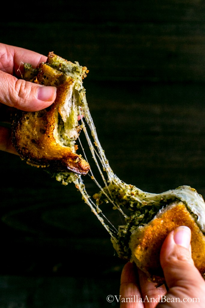 20 minutes for this flavor-packed, grown-up grilled cheese; Almond-Sage Pesto Grilled Cheese with Gruyere   Vanilla And Bean