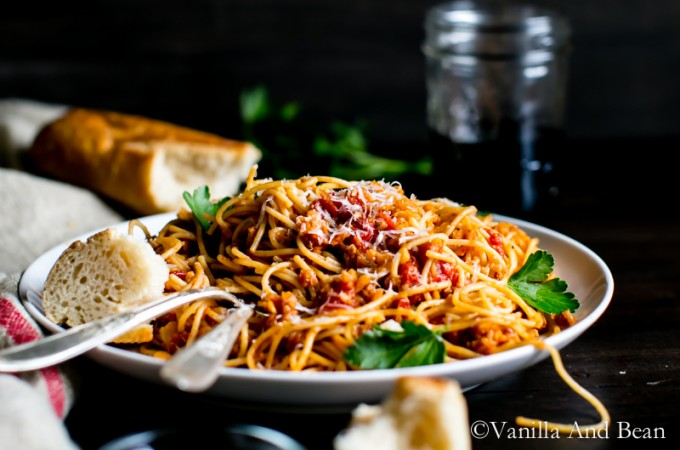 The Clever Cookbook Cauliflower Bolognese   Vanilla And Bean