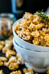 Rosemary Stout Caramel Popcorn | Vegan + Gluten Free | Vanilla And Bean