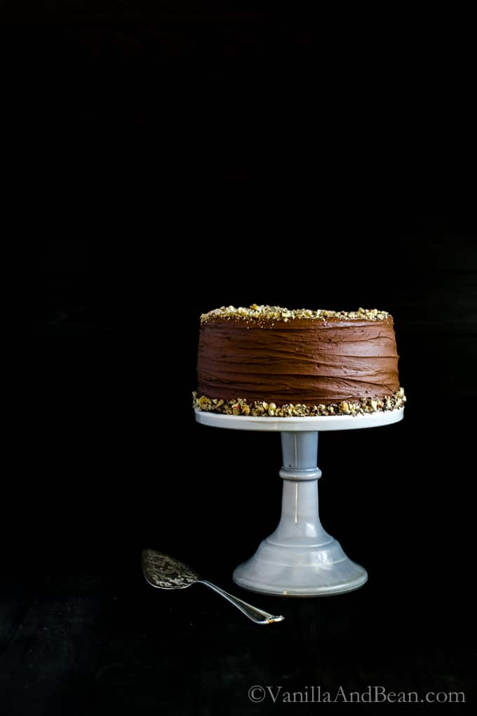 Vegan Chocolate Hazelnut Cake with Whipped Ganache | Vanilla And Bean
