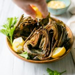 Roasted Artichokes with Curried Aioli | Vegan + GF | Vanilla And Bean