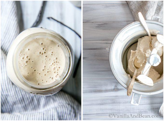 Vegan Bourbon Vanilla Bean Ice Cream