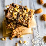 No Bake Vegan Chocolate Almond Coconut Bars