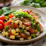 Black-Eyed Pea Sweet Corn Salad with Tomatoes and Chiles
