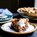 Vegan Bourbon Pecan Pie with a hint of molasses and maple syrup is sure to be a hit at your holiday table!   Christmas, Thanksgiving
