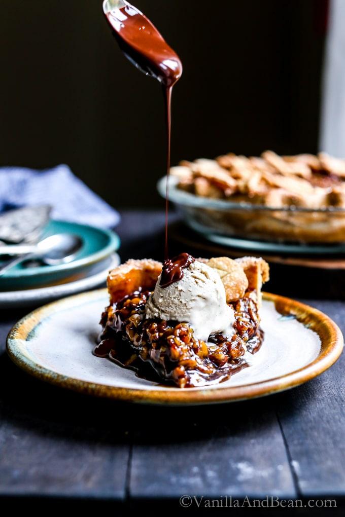 Vegan Bourbon Pecan Pie Vanilla And Bean