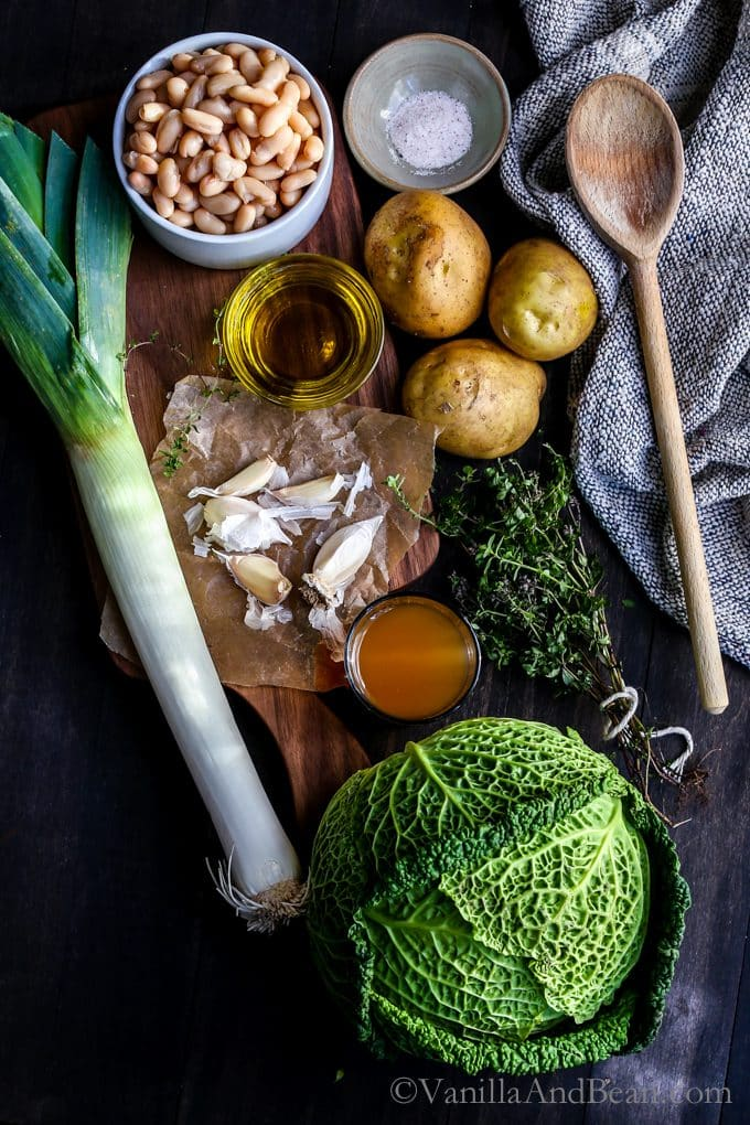 Ingredients for Cabbage Bean Soup