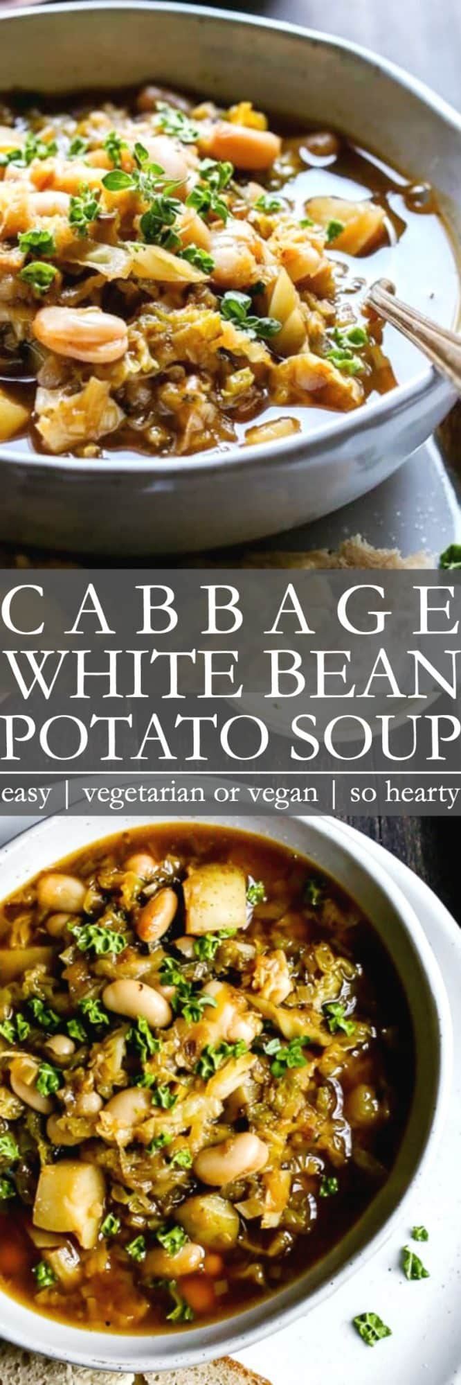 Cabbage White Bean Soup Pin
