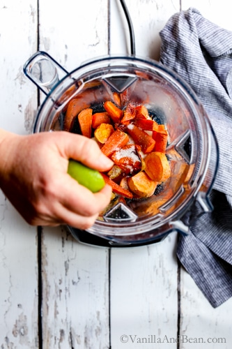 Get your burn on with Roasted Habanero Carrot Salsa, an easy, make ahead, mouthwatering salsa for all your dippin needs. So rich and flavorful, you'll go back again and again for more! V + GF